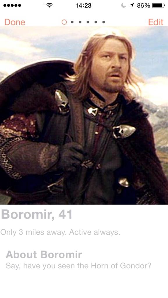 LOTR.Tinder.Boromir